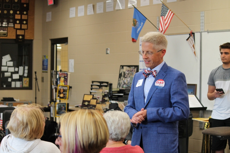 Bill Day with constituents at BA PTA forum